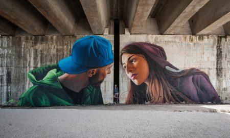 Il Bacio Arte Urbana A Cassino
