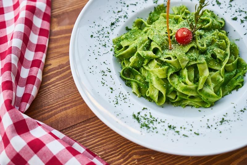 la pasta verde -piatto di Pasta verde