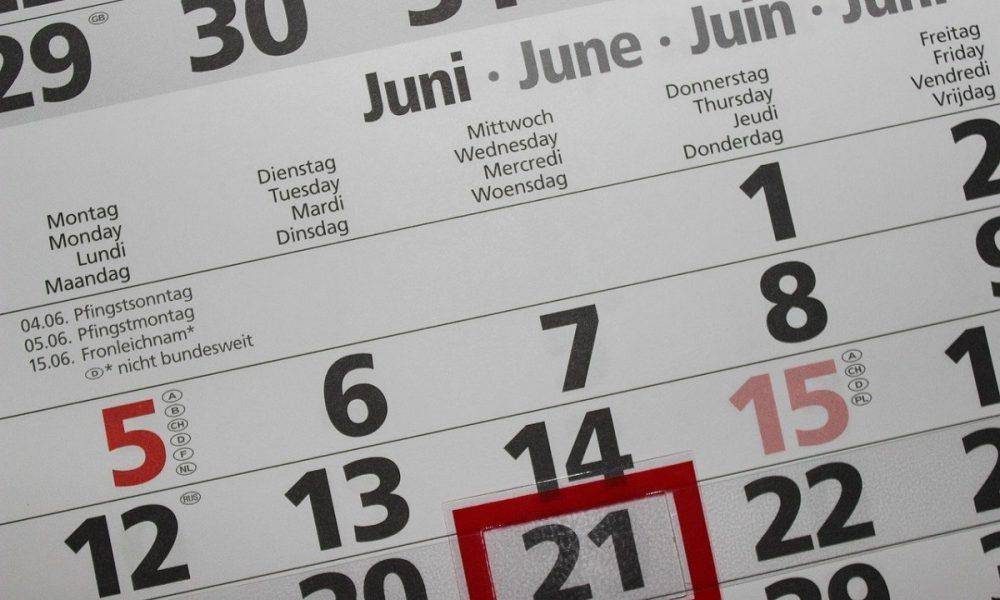 Giugno Calendario