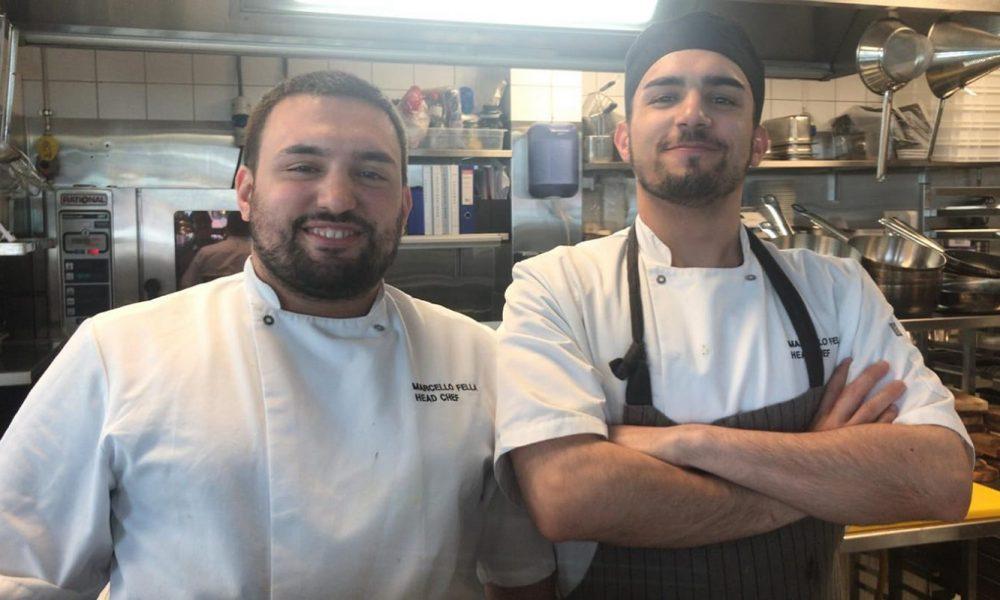 Marcello E Lorenzo Fella Chef In Cucina