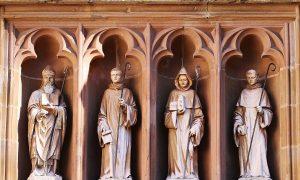 Monachesimo Benedettino Statue Di Monaci