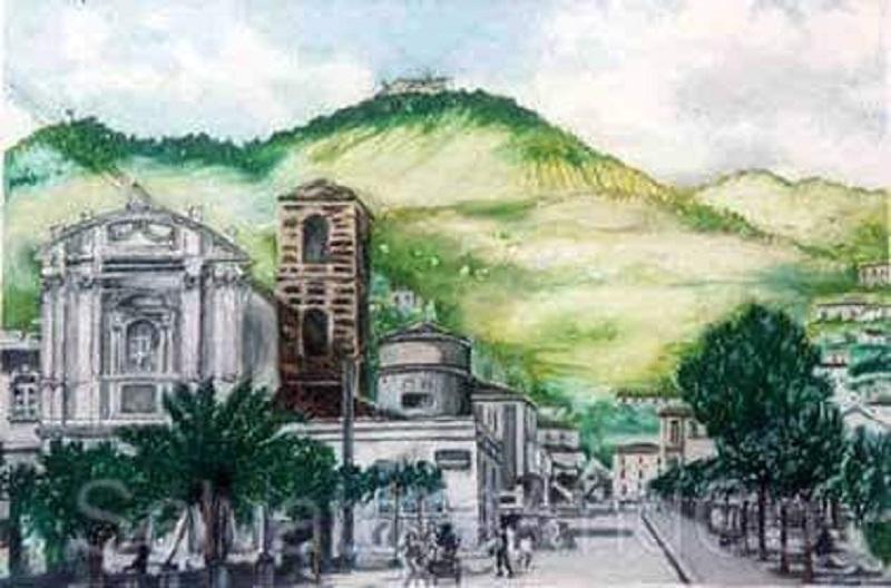Cassino Prima Della Guerra, Dipinto