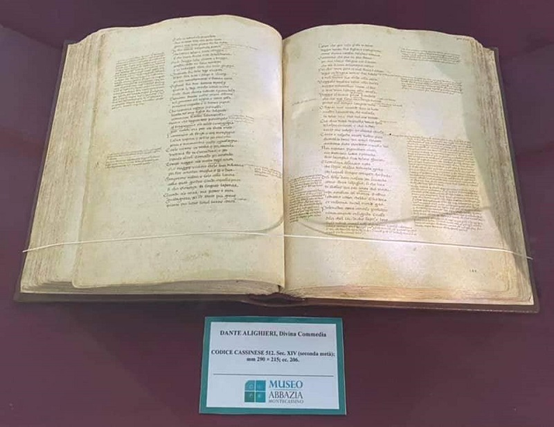 Montecassino E Dante Codice 512