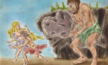 Aci, Polifemo e Galatea: vignetta a cura di Maci