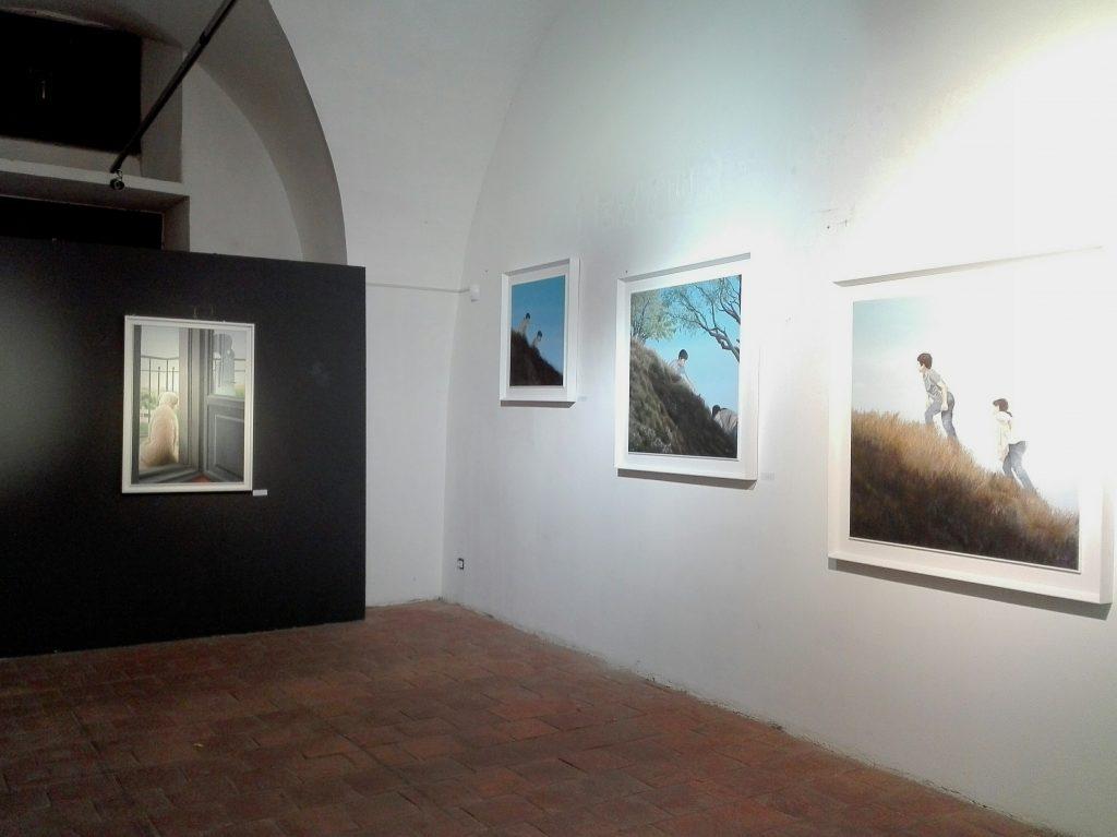 Alcuni oli su tela dell'artista catanese Alessandro Micale