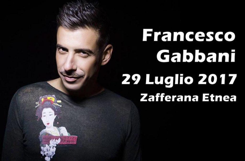 Francesco Gabbani sarà uno degli ospiti all'evento Etna in scena a Zafferana Etnea