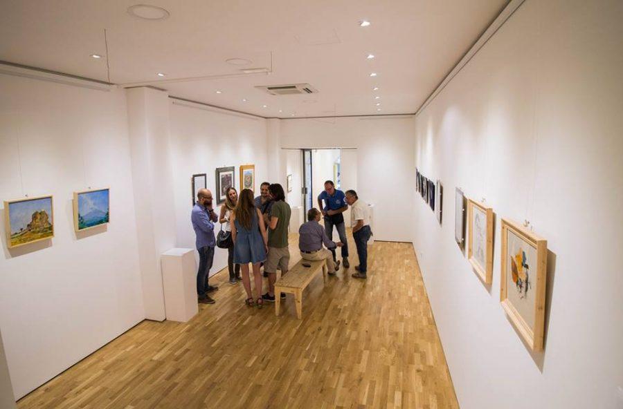 """Inaugurazione della collettiva di pittura """"Eri come l'Etna"""" all'OZ Galleria d'Arte a Nicolosi"""