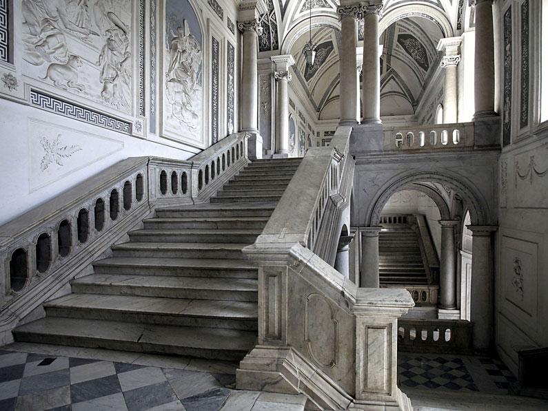 Carmelina Naselli - scalinata del monastero dei Benedettini