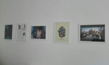 Illustrazioni all'interno dell'accademia dei videogame a Catania.