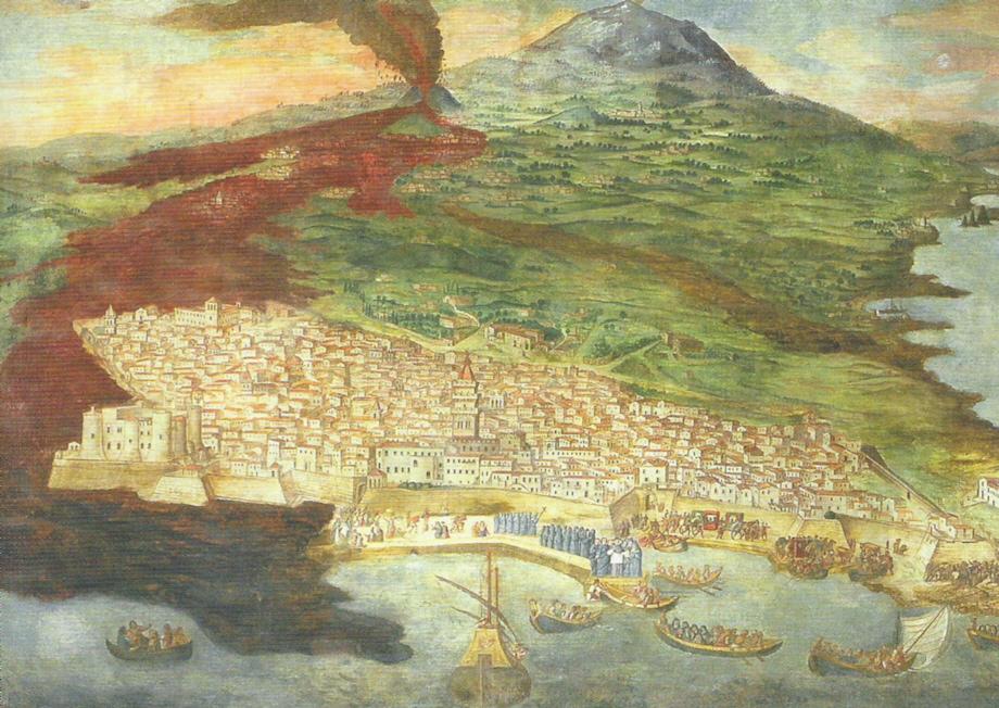 Catania colpita dalla lava nel 1669