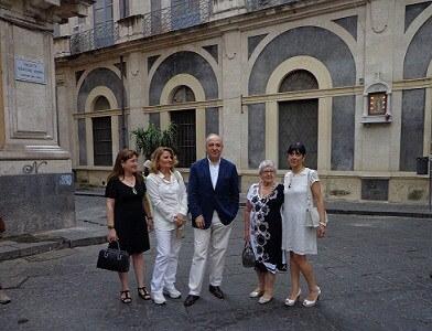 La piazzetta Sebastiano Addamo dedicata allo scrittore catanese