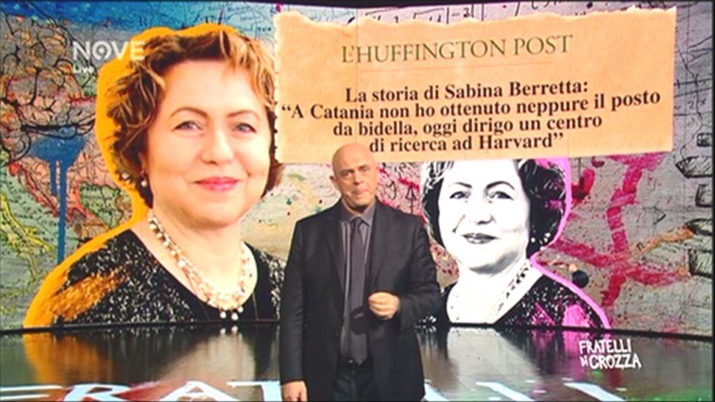 La storia di Sabina Berretta raccontata dalle maggiorin testate nazionali e dal Maurizio Crozza nel suo programma tv.