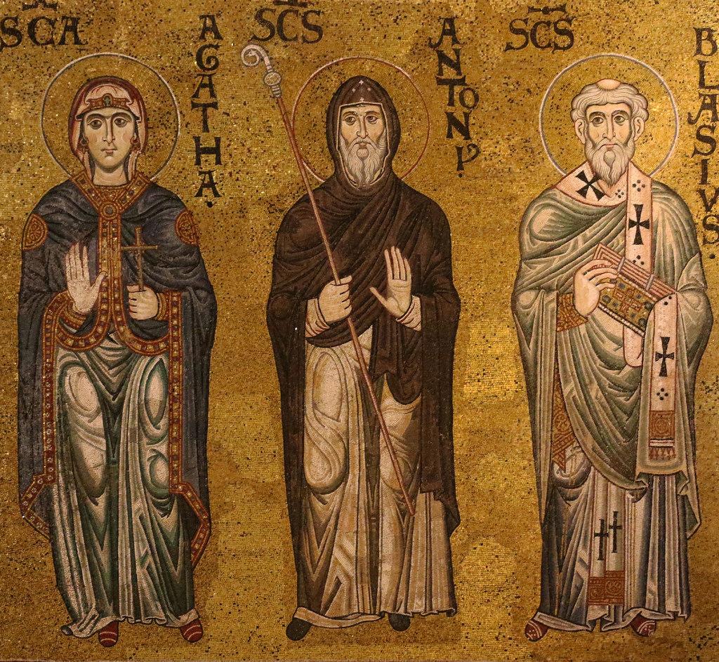 Santi Agata, Antonio e Blasio - Mosaici del XII secolo - Duomo di Monreale