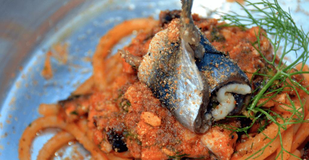 Un piatto tipico della tradizione culinaria siciliana proprosto dallo chef Philip Guardione nel suo ristorante.