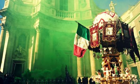 Candelore Sant'Agata. Fonte: youtuber PrimeGT23