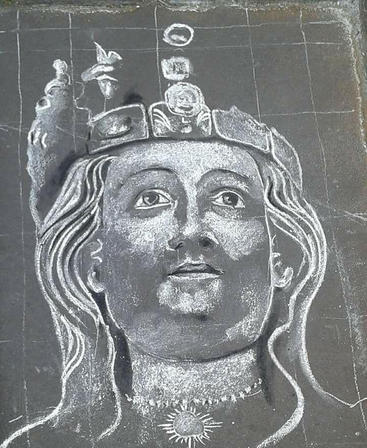 Sant'Agata è stata raffigurata anche come soggetto della street art.