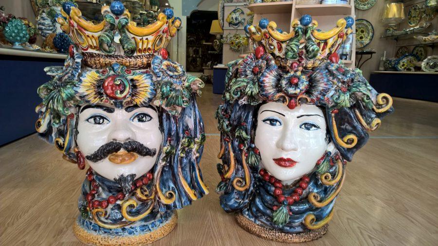 Teste di Moro in ceramica. Fonte: Ceramiche Cannarozzo