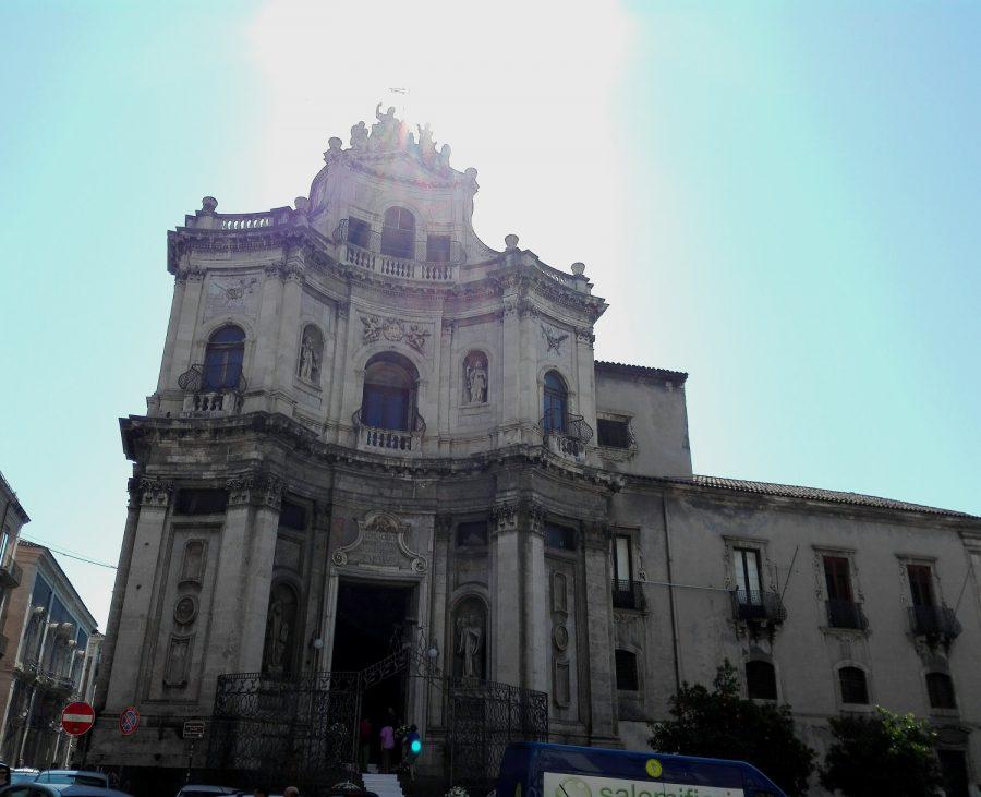 Esterno della chiesa San Placido a Catania