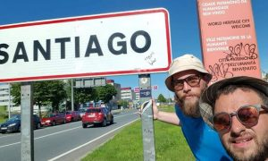 Il cammino dei catanesi Ivan e Nicola.