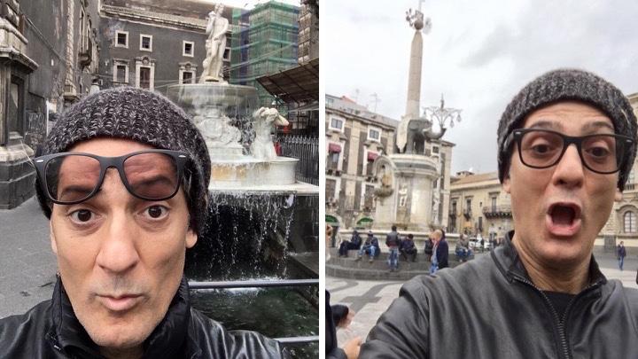Selfie dal profilo di Fiorello del 2016