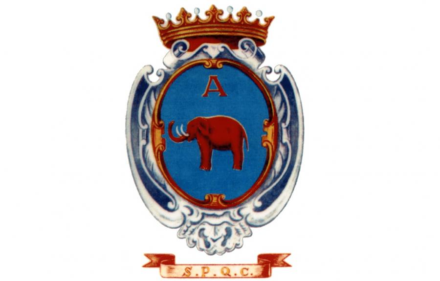 Lo stemma della città di Catania