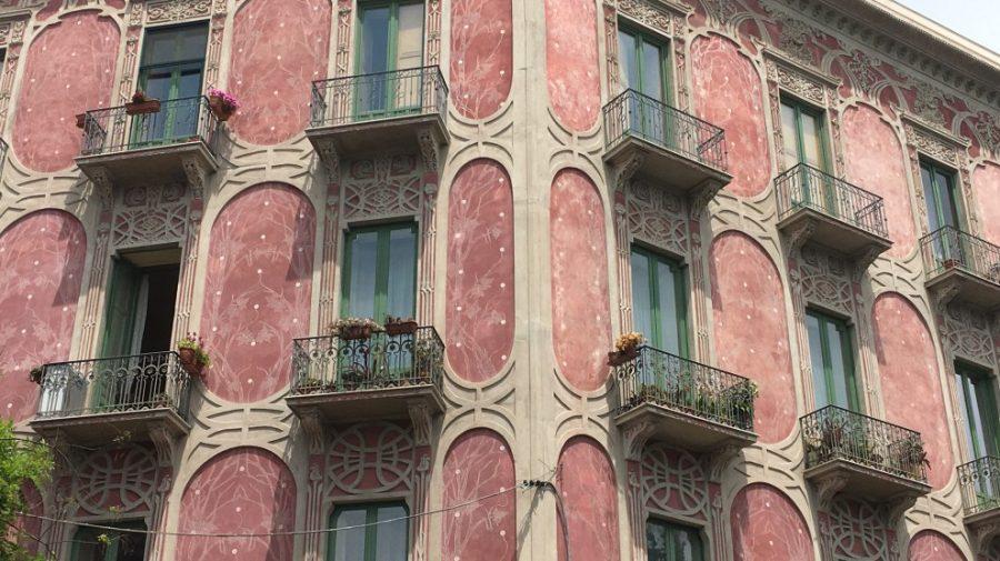 Lo stile Liberty nel Palazzo Rosa a Catania. Fonte foto: Liveunict