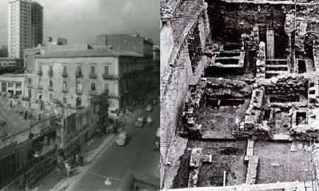 La necropoli sotto La Rinascente di Catania. Fonte foto: Edoardo Tortorici.