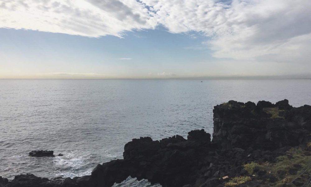 catania e il mare d'inverno, visuale dal Lungomare Liberato