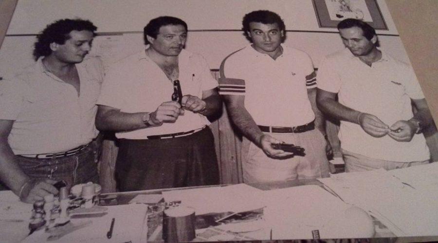 Giovanni Lizzio e i colleghi a lavoro dopo un sequestro