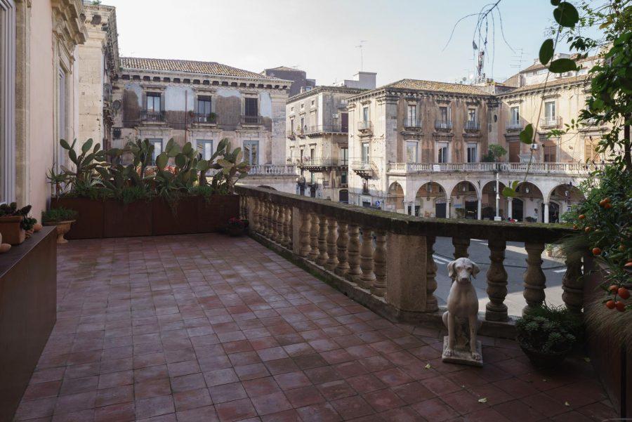 Palazzo Asmundo di Gisira. Terrazzo.