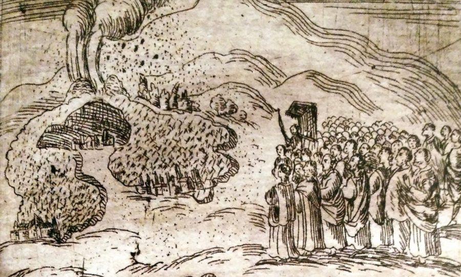 I diavoli sull'Etna durante l'eruzione del '300. Foto di: Il Vulcanico