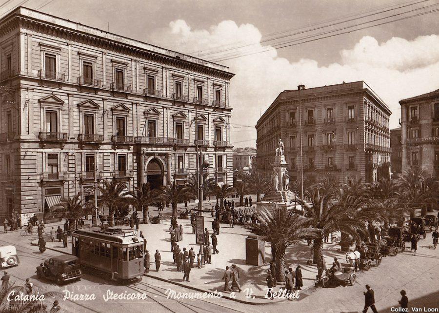 Passaggio del tram a Piazza Stesicoro. Fonte foto: StagniWeb