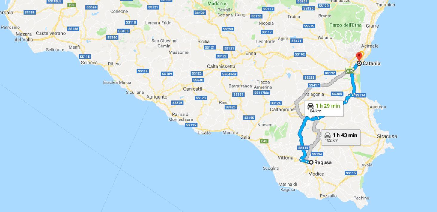 Da Ragusa A Catania Google Maps1