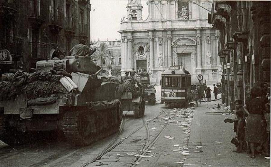 Occupazione nazi-fascista a Catania. Fonte foto: ARGO.