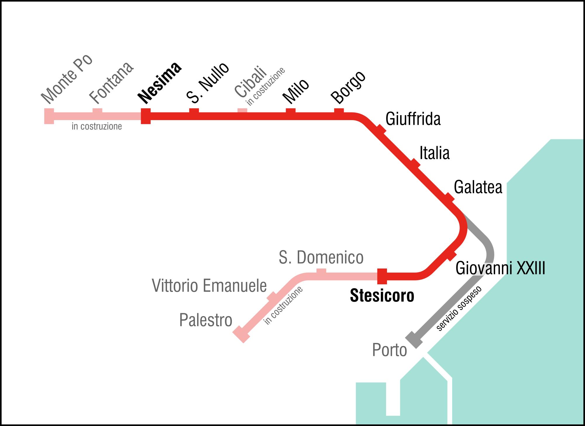 La linea metropolitana di Catania tra presente e futuro