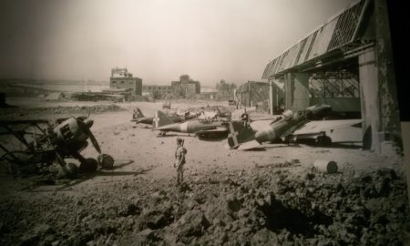 Aeroporto di Catania a seguito di un bombardamento. Fonte foto: Mobilita Catania.