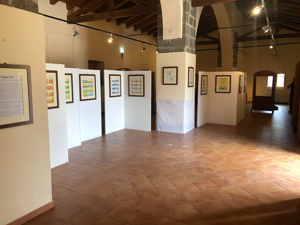 A Biancavilla Giuseppe Cocco ha donato molte delle sue opere, custodite nel Centro polivalente di Villa delle Favare.