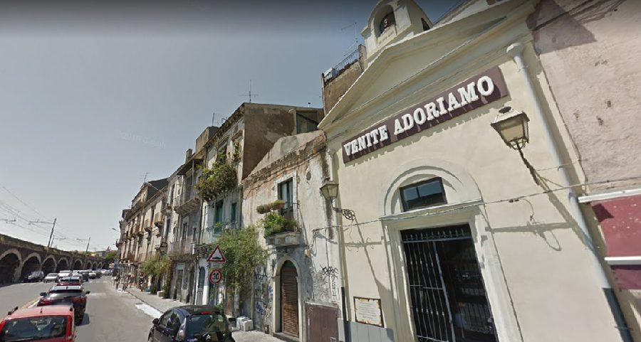 La Cappella con i resti della chiesa del Santissimo Salvatore alla Marina di Catania. Fonte foto: Google Maps