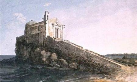 La chiesa del Santissimo Salvatore su un promontorio alla Marina di Catania. Fonte foto: LaSicilia