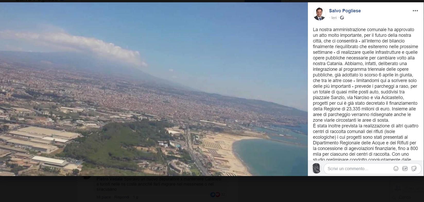 Piano triennale per Catania