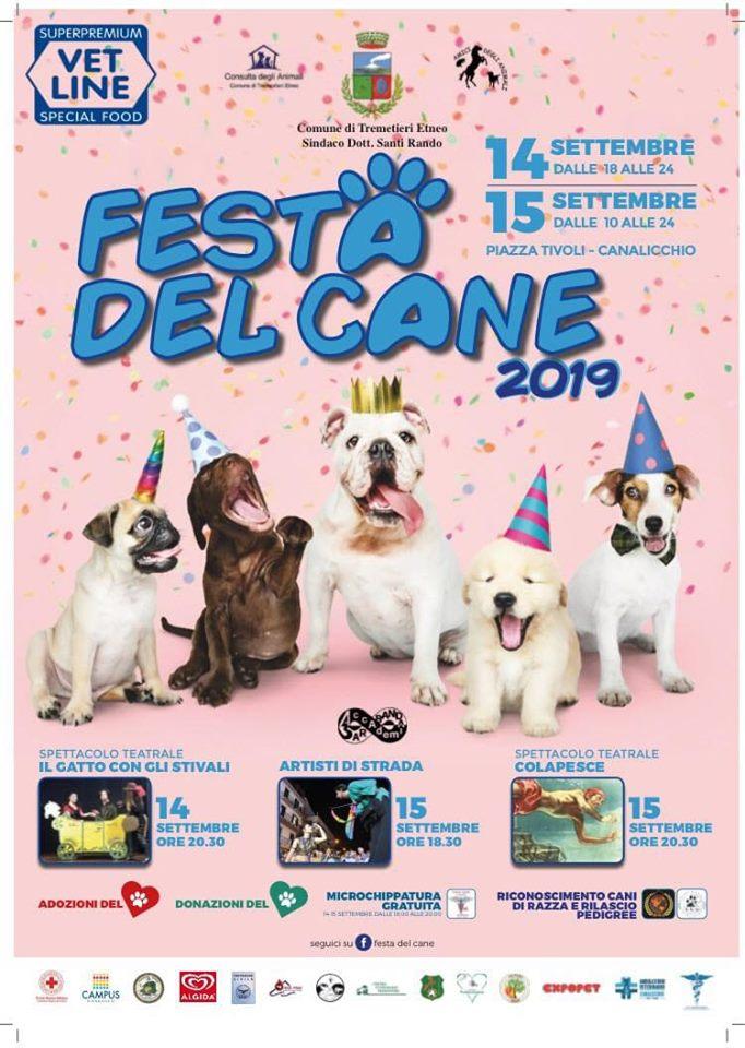 area di sgambamento - locandina colorata con gli appuntamenti della Festa Del Cane a Catania