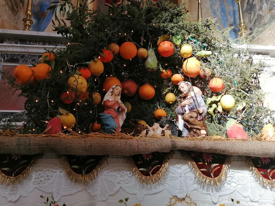Le tradizionali cone sono gli altarini, le edicole votive allestite con elementi decorativi tipici siciliani come gli agrumi, i fichi, l'asparago selvatico, i dolciumi, per celebrare la nascita di Gesù.4 7697317594776207360 N