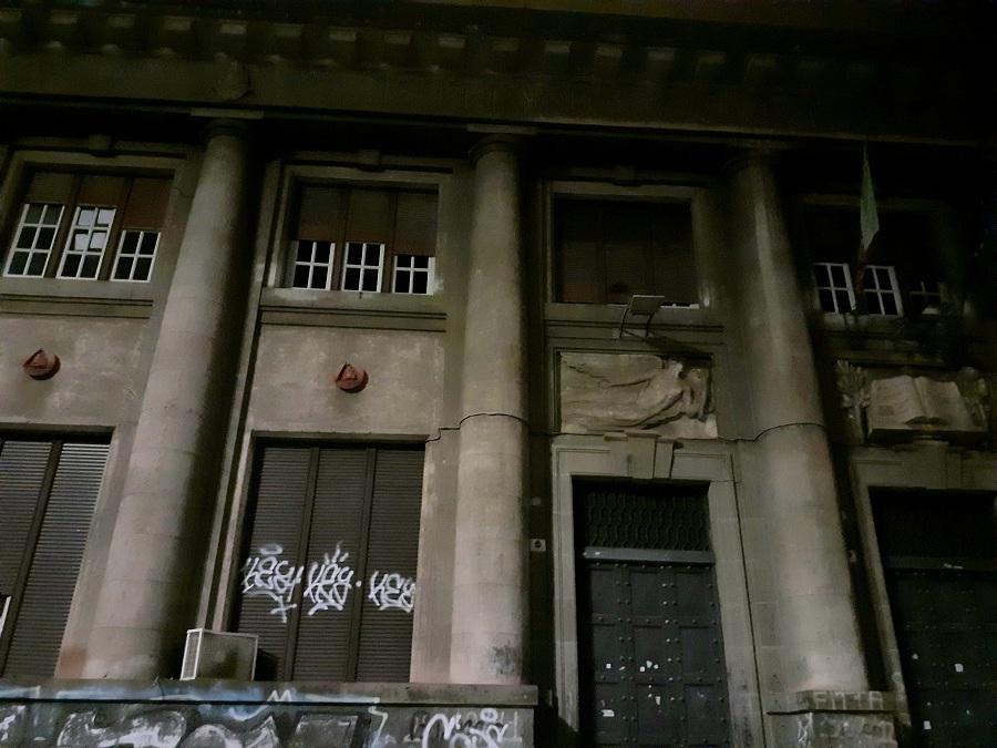 L'Istituto superiore De Felice a Catania fa parte del complesso di edifici realizzati in stile Razionale. Foto di: Valentina Friscia