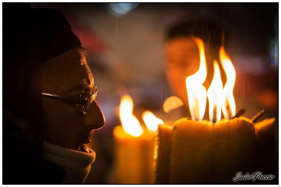 Sant'Agata - portatori di cera durante la festa di Sant'Agata. Foto di Salvo Puccio
