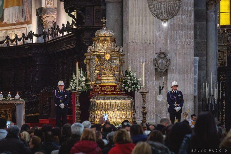 Ottava di Sant'Agata - reliquie in esposizione. Foto di Salvo Puccio
