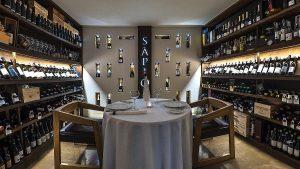 Sàpìo Restaurant, sala enoteca