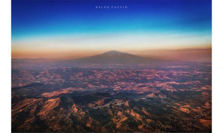 Etna vista dall'aereo Foto Di Salvo Puccio