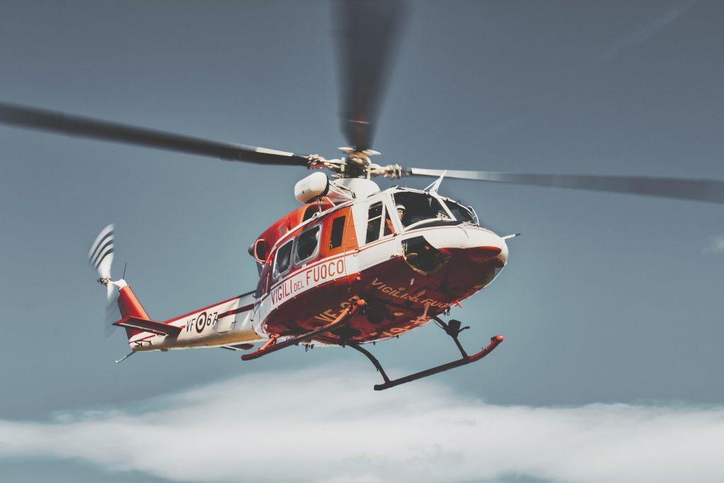 Elicottero dei vigili del fuoco. Foto esemplificativa