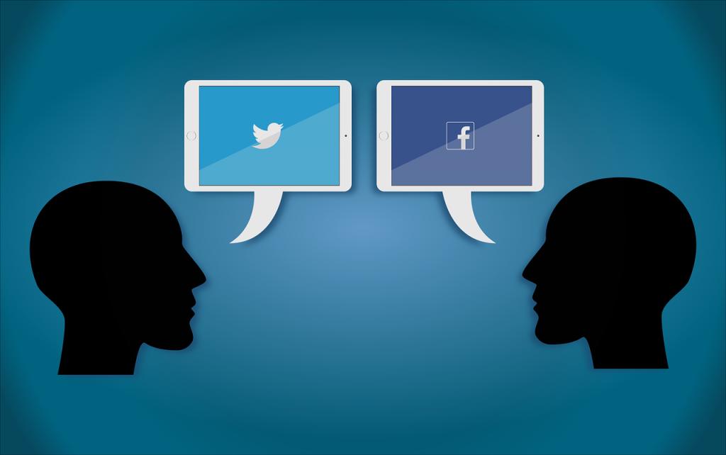 Resto al Nord, comunicazione tramite social network