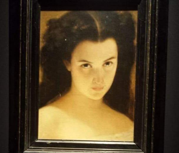 Michele Rapisardi attinge molte volte al personaggio di Ofelia. La resa dei particolari del viso, lo sguardo rendono quest'opera una delle migliori espressioni della sua arte.